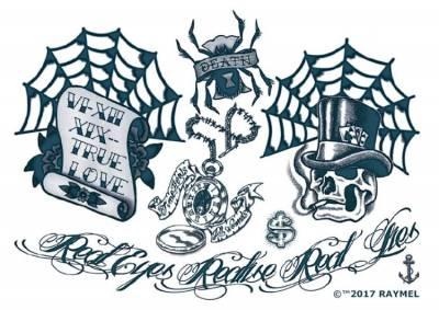 1xA4 Real Look 2 Gangsta StyleTemporary Tattoos
