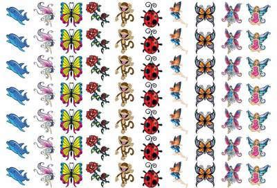 1xA4 Sheet 70 Fairy Temporary Tattoos
