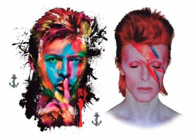 1xA4 Sheet Bowie Inspired Temporary Tattoos Mel