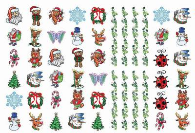 1xA4 Sheet Christmas 3 Temporary Tattoos