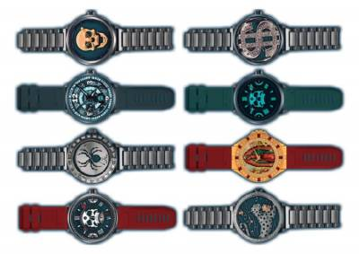 1xA4 Sheet Gangsta Watch Temporary Tattoos 1