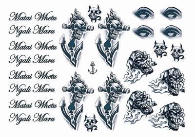 1xA4 Sheet GangstaBoy 7 Mel Tattoos