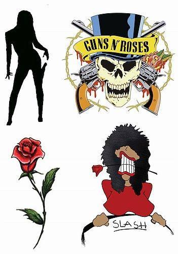 1xA4 Sheet Gunner Inspired Temporary Tattoos