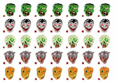 1xA4 Sheet Halloween Oliver Red Box Art 40mmx40mm