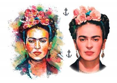 1xA4 Sheet Kahlo Inspired Temporary Tattoos Mel