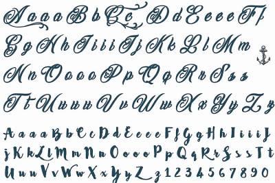 1xA4 Sheet Letter Tattoos 2 Mel