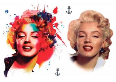 1xA4 Sheet Monroe Inspired Temporary Tattoos Mel