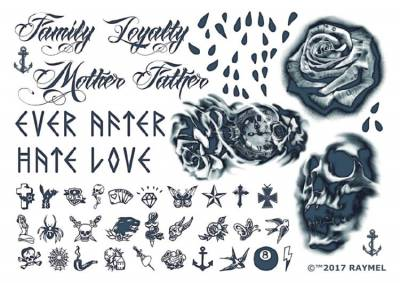 1xA4 Sheet My Hands My Tears Temporary Tattoos