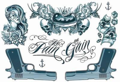 1xA4 Sheet Neck Tattoos 2 Mel
