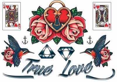 1xA4 Sheet Neck Tattoos 3 Mel