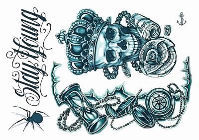 1xA4 Sheet Neck Tattoos 4 Mel