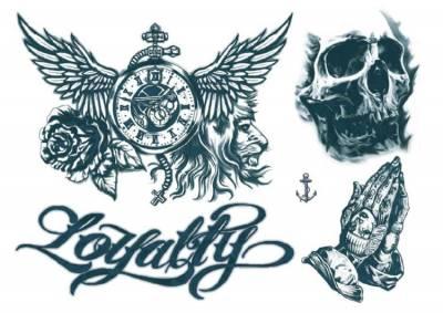 1xA4 Sheet Neck Tattoos 6 Mel Temporary Tattoos