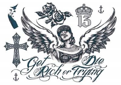 1xA4 Sheet New Neck 1 Mel Tattoos