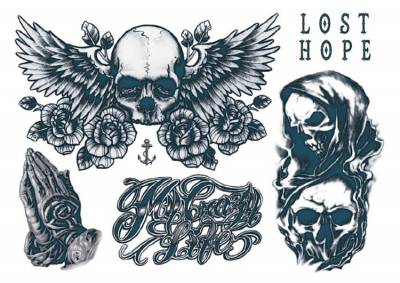1xA4 Sheet New Neck 4 Mel Tattoos