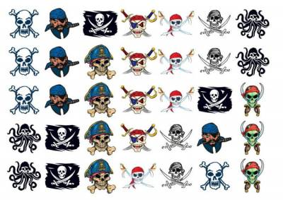 1xA4 Sheet Pirate Boys Special Deal Temporary Tattoos