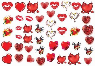 1xA4 Sheet Hearts Tommy 1 Tattoos