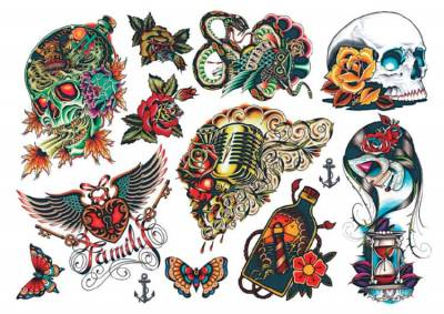 1xA4 Sheet Vintage Tattoos 9 Me