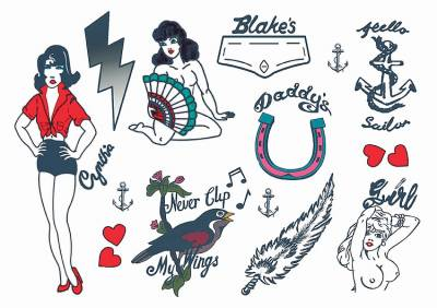 1xA5 and 1xA4 Sheets Amy Winehouse Temporary Tattoos