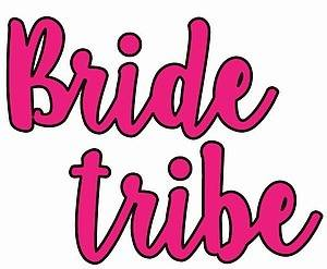 40 Hens Bride Tribe Hot Pink Tattoos