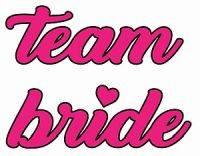 10xHens Team Bride Hot Pink 30mmx40mm Tattoos