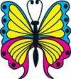Butterfly 2 Temporary Tattoos 40x40mm
