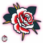 Individual 1 Rose with Scar 40x40mm