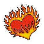Individual 20 Flame Heart 40mmx40mm