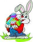 Individual 24 Easter Bunny Temporary Tattoos 40mmx40mm