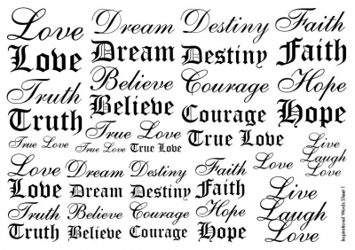 Inspirational Words Tattoos