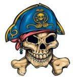 Pirate 1 Temporary Tattoos 40x40mm