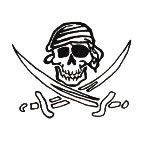 Pirate 4 Temporary Tattoos 40x40mm