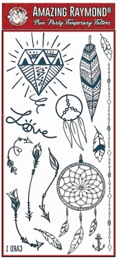 children kids Dream Catchers Feathers Temporary Tattoos