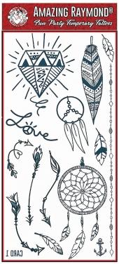 children kids Dream Catchers Feathers Temporary Tattoos