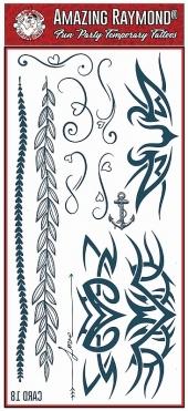 Childrens Temporary Tattoos Black Celtic and  Armband Tattoos