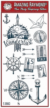 children kids On Trend Travel the World Temporary Tattoos