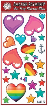 Childrens Temporary Tattoos Hearts and Stars Tattoos