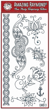 children kids Henna Temporary Tattoos