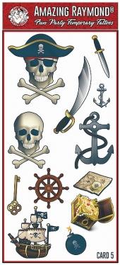 Pirate Skull Knife Sword Anchor temporary tattoos