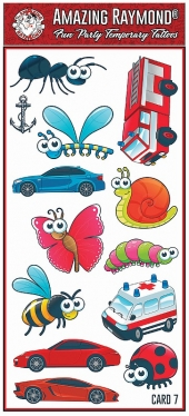 childrens kids Temporary Tattoos bee lady bug and butterfly