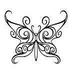 103A Black Celtic Butterfly Temporary Tattoos