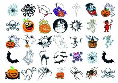 1xA4 Halloween 3 Temporary Tattoos