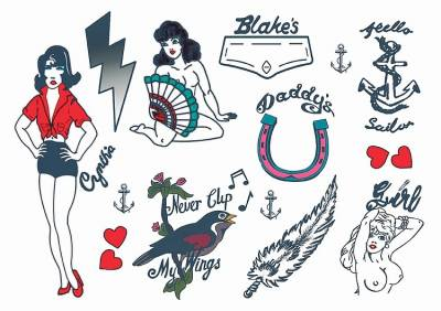 Amy Winehouse Large Temporary Tattoos  1xA4 Sheet