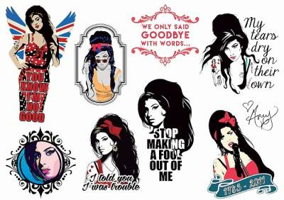 1xA4 Sheet Amy Winehouse Tribute Tattoos