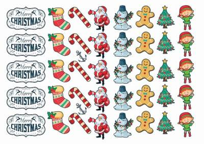 1xA4 Sheet Christmas 2 Temporary Tattoos