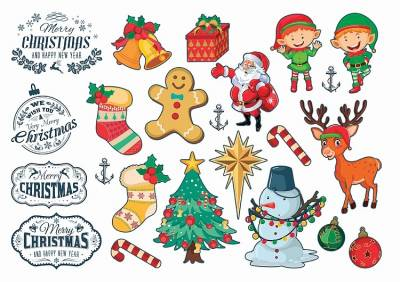 1xA4 Sheet Christmas1 Temporary Tattoos