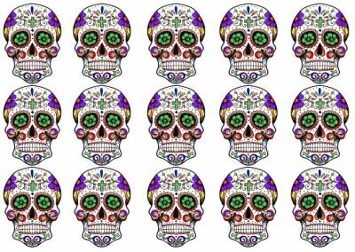 Day of the Dead Temporary Tattoos 2