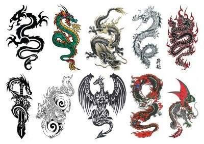 Temporary Dragon Tattoos Sheet Tattoos Temporary