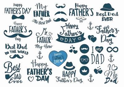 1xA4 Sheet Fathers Day 1 Temporary Tattoos