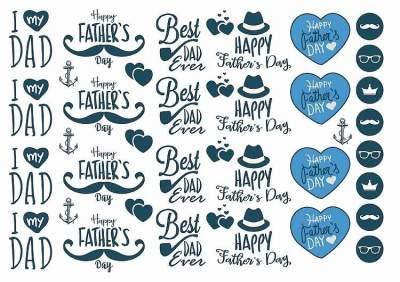 1xA4 Sheet Fathers Day 2 Temporary Tattoos