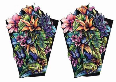 1xA4 Sheet FlowerFrog Tattoos